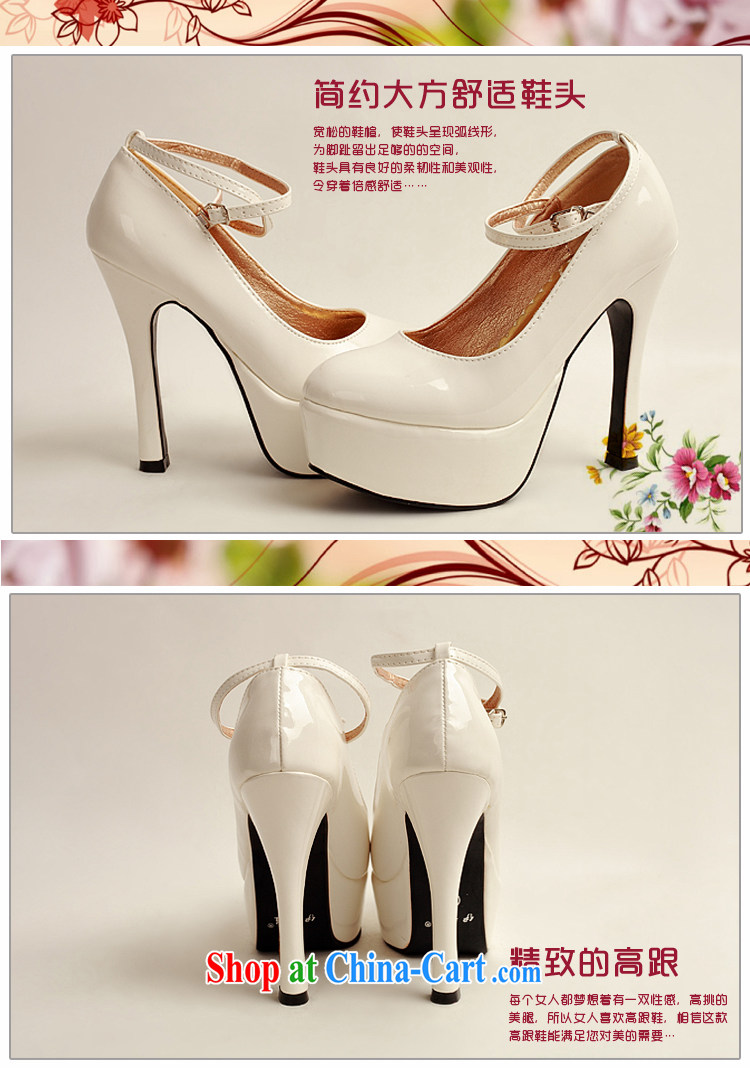 Diane M Qi 2014 women shoes new varnished leather, smooth flash, deluxe waterproof single bridal shoes bridal shoes white, round-head high-heel shoes white 38 pictures, price, brand platters! Elections are good character, the national distribution, so why buy now enjoy more preferential! Health