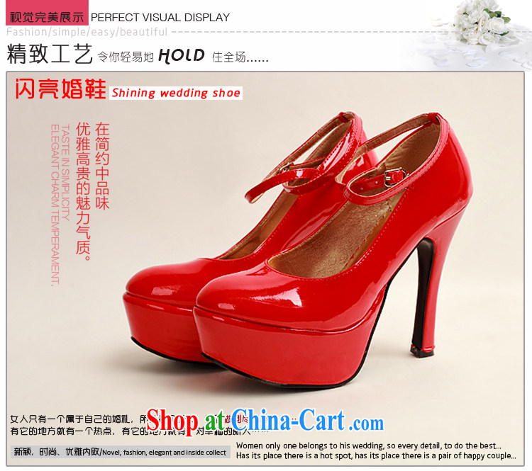 Diane M Qi 2014 women shoes new varnished leather, smooth flash light, deluxe waterproof single bridal shoes bridal shoes red, round-head high-heel shoes red 38 pictures, price, brand platters! Elections are good character, the national distribution, so why buy now enjoy more preferential! Health