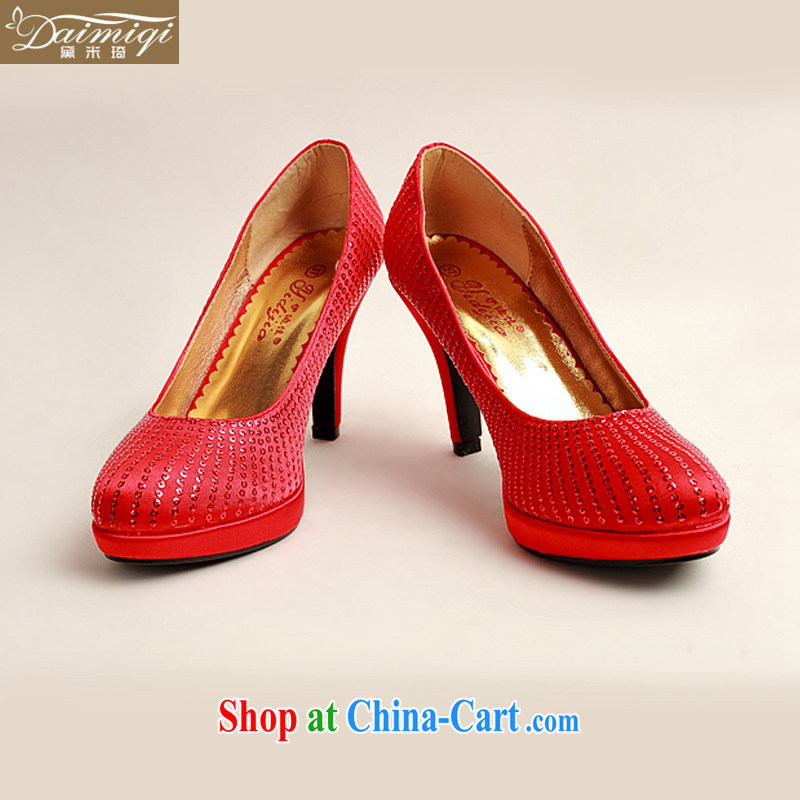 Diane M Ki Korean version with red wedding shoes larger wedding shoes bridal shoes 2014 new women shoes DXZ 10,030 red 38