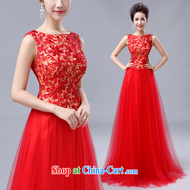 Moon ? guijin 2014 new bride's wedding dress and embroidery spent more stylish long evening dress 6 large red L code from Suzhou shipping