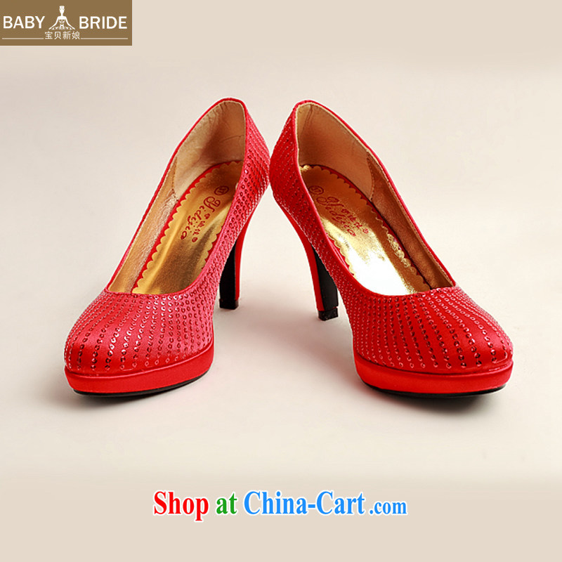 My dear bride Korean high-heel red wedding shoes larger marriage shoes bridal shoes 2014 new women shoes DXZ 10,030 Red Red 38