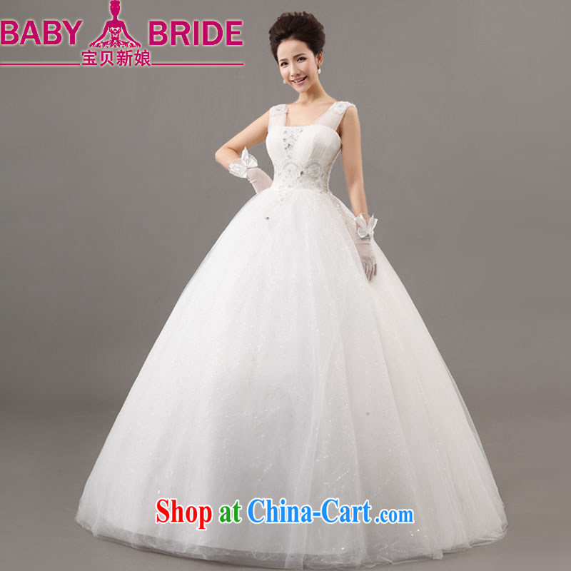 Baby bridal wedding new spring 2014 Korean bridal White Field shoulder binding betrothal yarn long wedding with white XXL