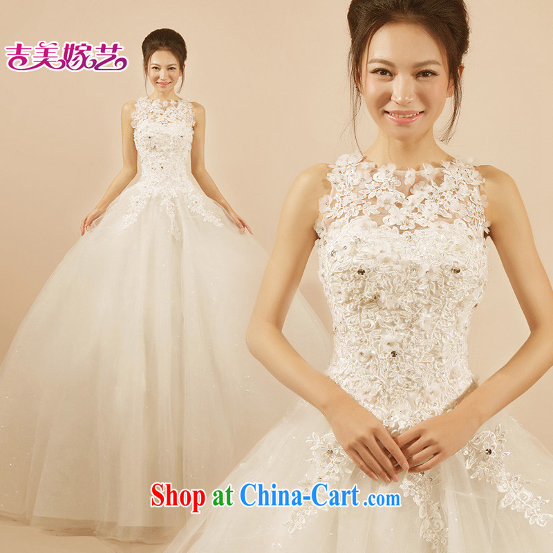wedding dresses Jimmy married arts 2015 new single shoulder Korean shaggy dress with HS 7207 bridal wedding ivory XXL