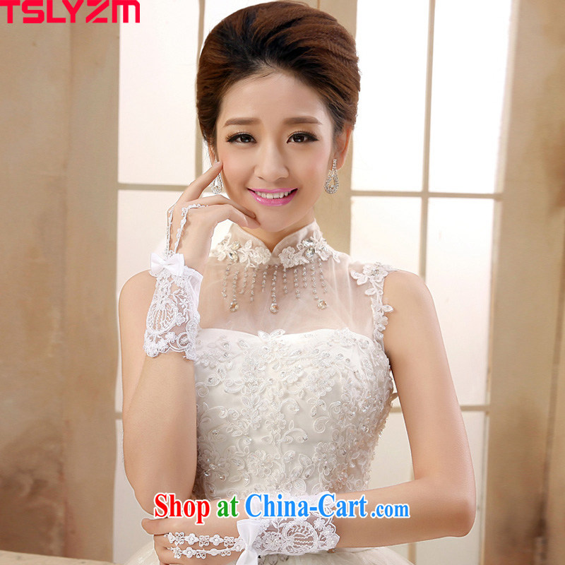 2015 Tslyzm new bridal mittens white short lace exclusive full manual custom stylish wedding wedding gloves accessories
