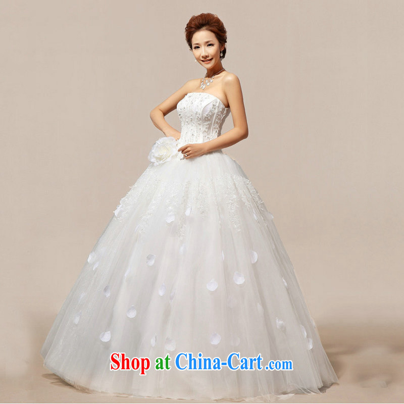Optimize Philip Wong Yu-hong, new Korean bridal erase chest sweet flowers dress Princess wedding dresses XS 8193 m White XXL