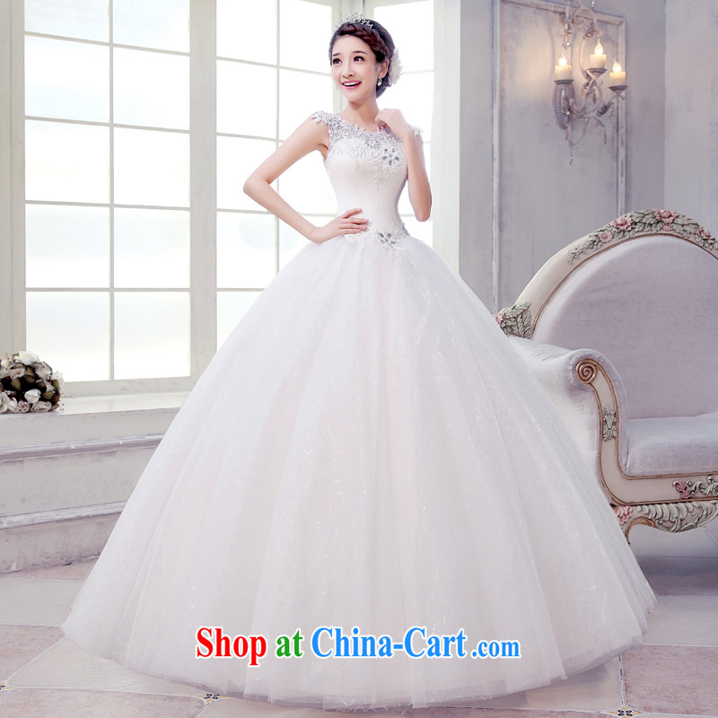 Let the day the wedding, Japan, and South Korea a Field shoulder white with trailing lace dress skirt 2015 summer new, red and white with M, Dream of the day, and on-line shopping