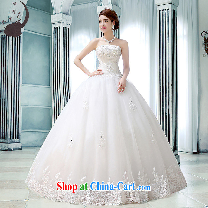 Dream of the day wedding dresses skirt wiped his chest, Japan, and South Korea with diamond jewelry summer 2015 new white XXL
