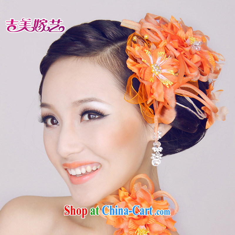 Jimmy married art bridal jewelry_ornaments_Head spend_luxury and spend TH 0103 bridal and flower orange