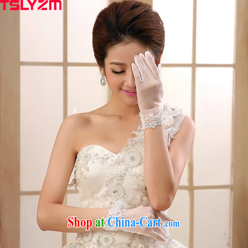 The angels, according to 2015 new marriages gloves water drilling lace full-A short wedding gloves Korean hand beaded flowers wedding gloves with white are code