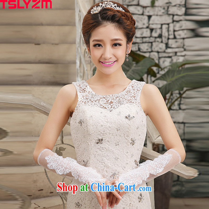 The angels, according to 2015 new Korean bridal white long lace terrace that wedding dress gloves wedding accessories wedding wedding gloves mandatory white are code