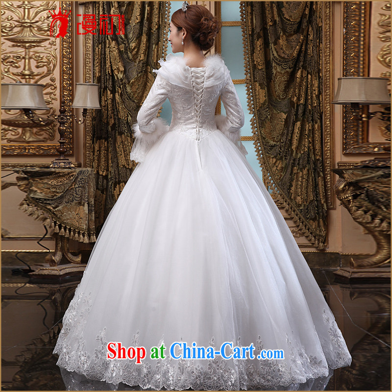 Definition 2015 early American dream wedding winter new winter thick wedding dresses long sleeved winter, marriages wedding white XL codes, animated, and, shopping on the Internet
