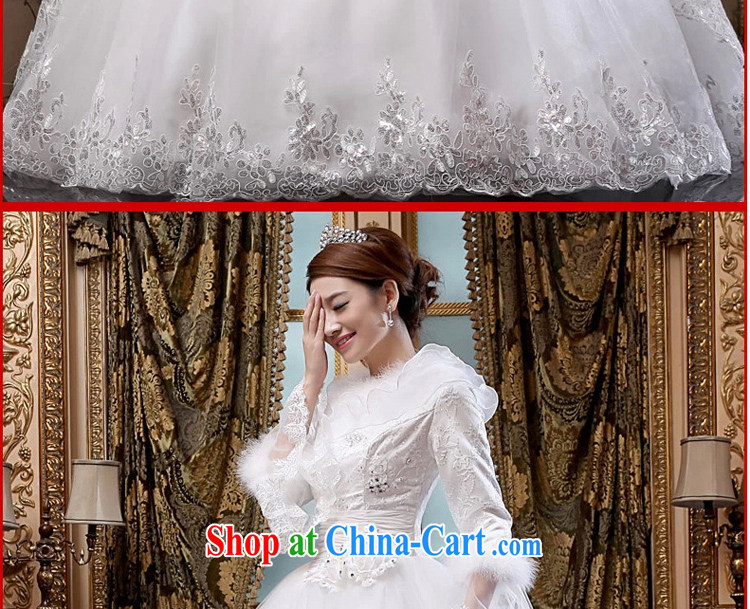 Definition 2015 early American dream wedding winter new winter thick wedding dresses long sleeved winter, marriages wedding white XL code pictures, price, brand platters! Elections are good character, the national distribution, so why buy now enjoy more preferential! Health