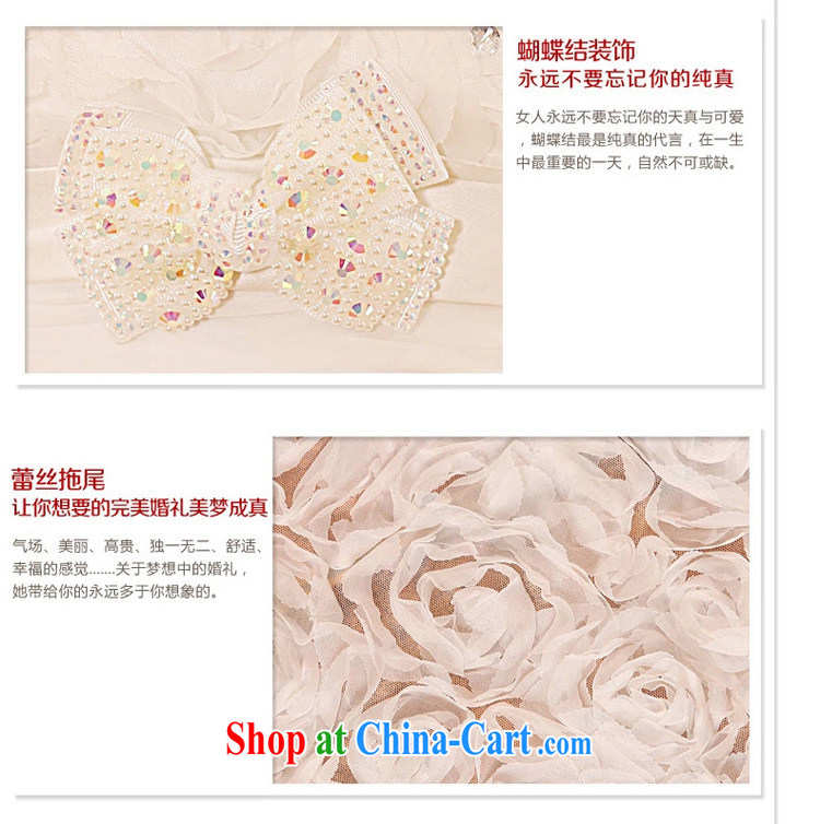 Early definition 2015 new bride wedding long-tail Korean lace the tail Deluxe tail wedding dresses white M code pictures, price, brand platters! Elections are good character, the national distribution, so why buy now enjoy more preferential! Health