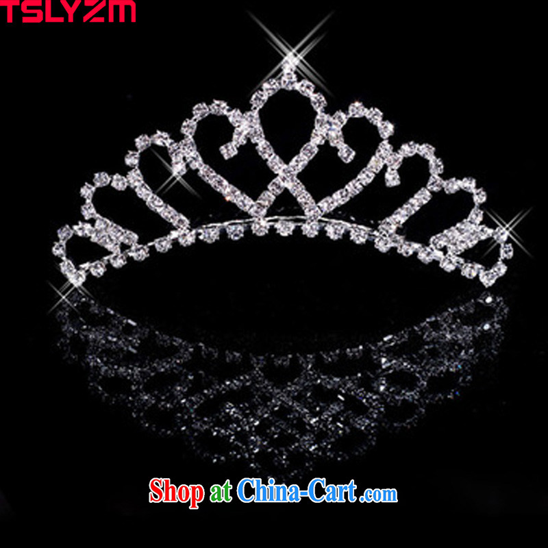 Tslyzm bridal Crown Princess and white diamond crystal crown-The hair accessories girls wedding dresses accessories HG 001