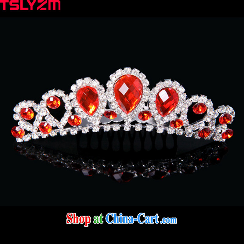 Tslyzm bridal jewelry Crown Chinese crown and ornaments wedding jewelry wedding dresses accessories dresses the mandatory red wedding mandatory