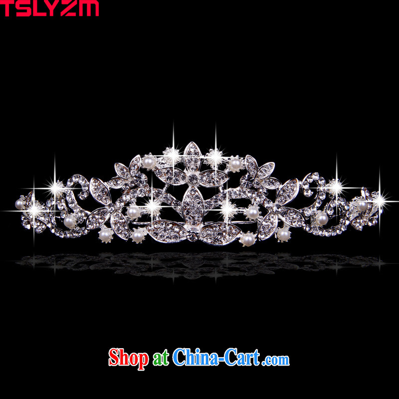 Tslyzm new luxury fashion Princess Crown atmospheric wedding Crown bridal wedding jewelry, Princess and ornaments continental grand Crown