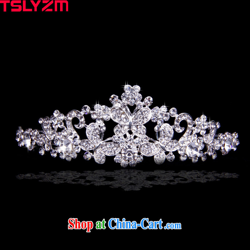 Tslyzm bridal crown and crown the crown classic retro coronation Crown butterfly round crown and ornaments