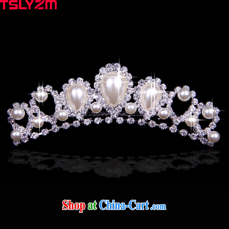 Tslyzm continental Crown headdress bridal Princess wedding Crystal Diamond Crown, trim the clamp Korean-style wedding ceremony dress,