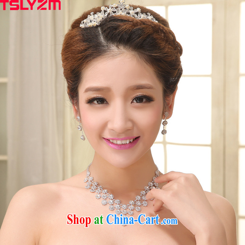 The angels, according to bridal jewelry 3 piece set with Korean-style necklace earrings crown and ornaments wedding jewelry wedding dresses accessories jewelry set link 8