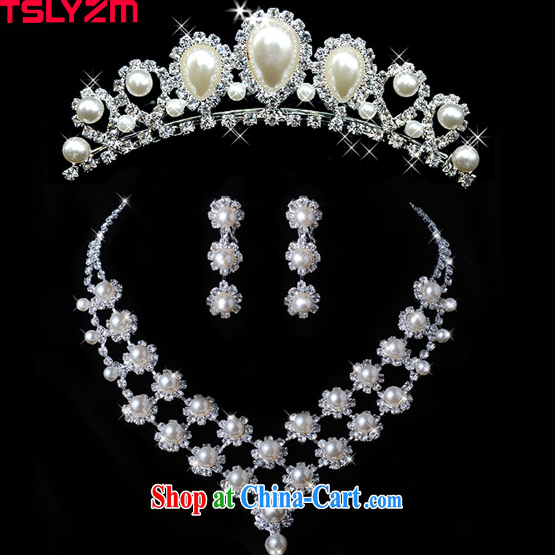 Tslyzm bridal headdress Crown wedding accessories flower name marriage jewelry wedding jewelry 3 piece set