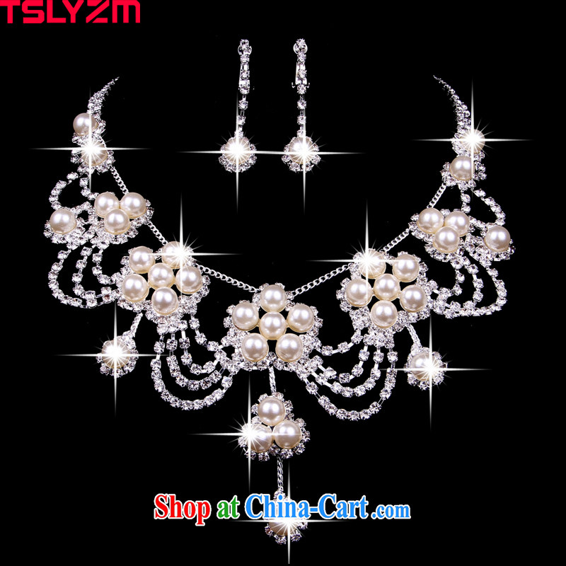 korea Tslyzm exaggerated pearl necklaces female clavicle link with marriages wedding jewelry items can be equipped with 2-part kit XL 009, Tslyzm, shopping on the Internet