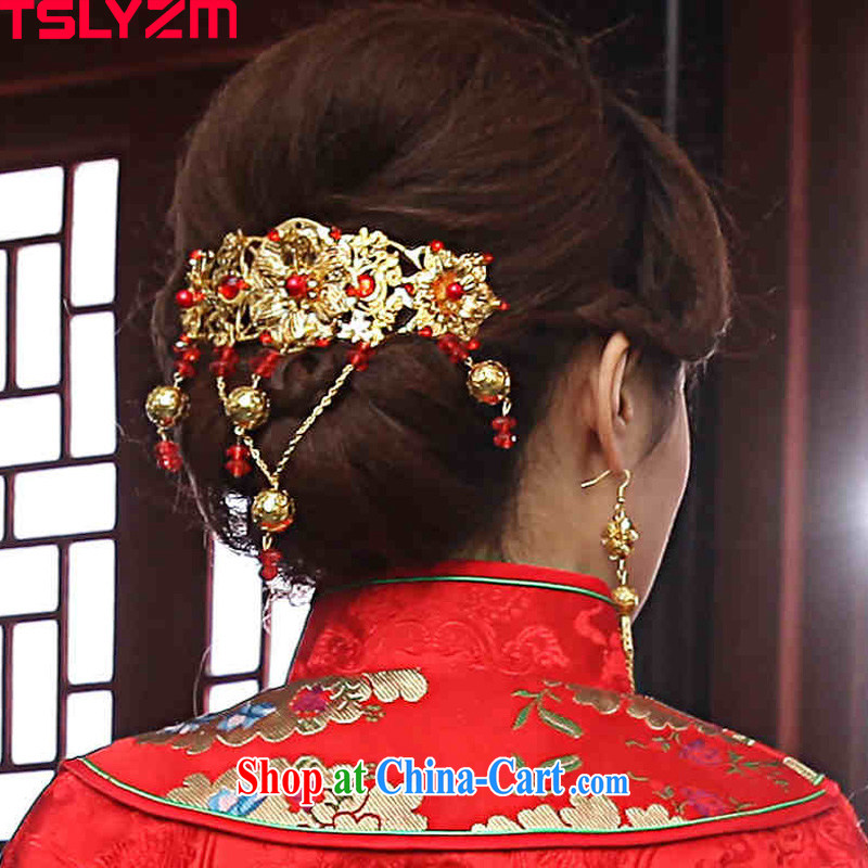 Tslyzm costumes bridal Bong-crown and ornaments classic stream, and a package goods-su Wo serving Phoenix and the ornaments