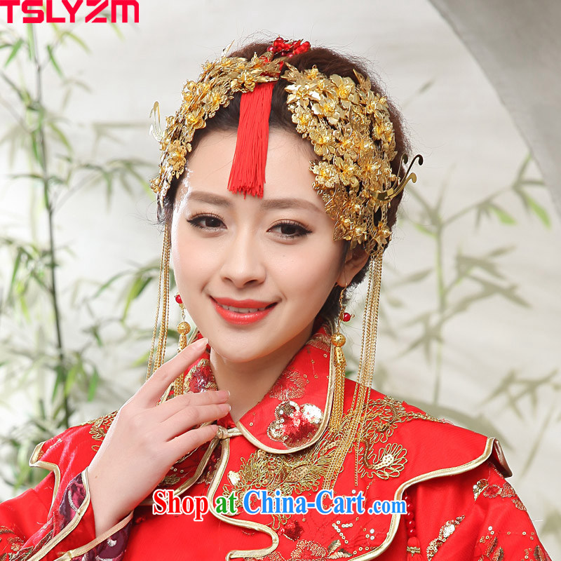 Tslyzm Chinese brides in ancient and ornaments nuptials visited classic wedding HAIR ACCESSORIES dresses show reel service comb performance with ornaments