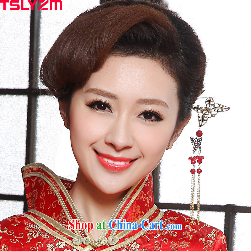 The angels, in accordance with bride's jewelry cheongsam decorated further, classical Korean jewelry retro butterfly headdress female Korean hair accessories classic wind the most ornate Kanzashi marriage accessories