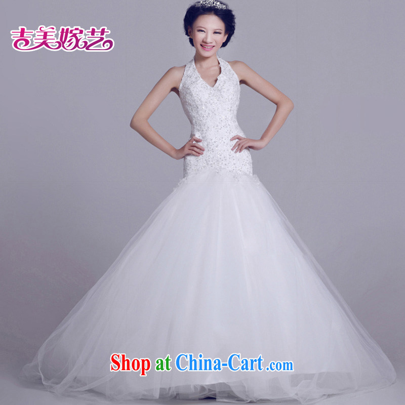 wedding dresses Jimmy married arts 2015 new shoulder strap Korean Princess skirt tail HT 6026 bridal wedding ivory M
