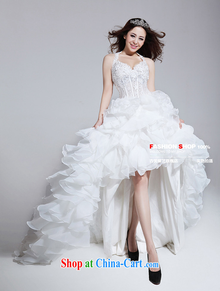 wedding dresses, marry us performing arts 2015 new mount also Korean wedding before after a short drag HT 737 bridal wedding ivory L pictures, price, brand platters! Elections are good character, the national distribution, so why buy now enjoy more preferential! Health