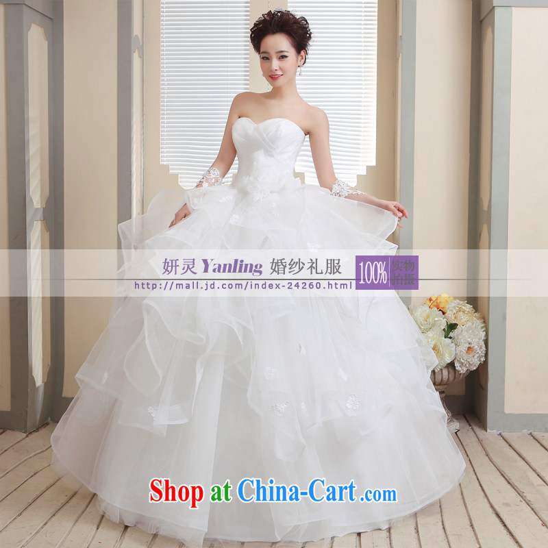 Her spirit_YANLING Korean wiped his chest bridal wedding dresses and ladies elegantly tied with 14,007 white customization