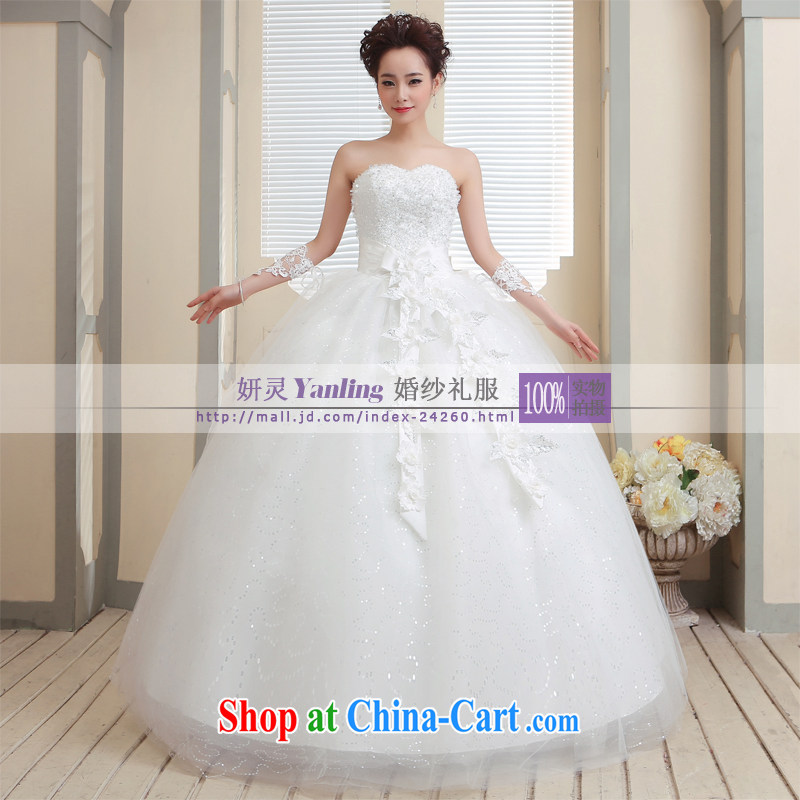 Her spirit_YANLING Korean wiped his chest bridal wedding dresses and ladies elegantly tied with 14,006 white customization