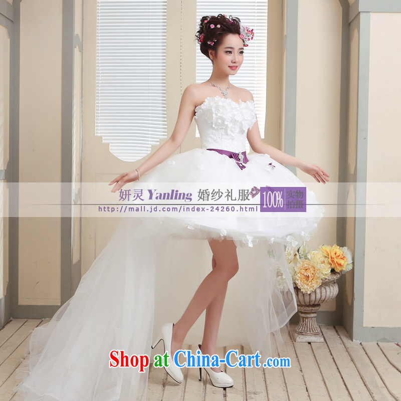 Her spirit/YANLING short before long after flowers wedding for Small compact sub short wedding 14,001 to specify any color custom