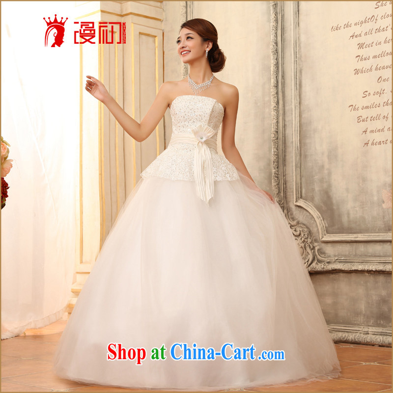 Definition 2015 early New erase chest shaggy dress wedding water-soluble lace marriages with strap wedding white XL