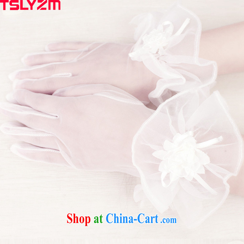 The angels, according to 2015 new short, transparent Web yarn soft Web Sin American Floral gloves wedding dresses accessories bridal gloves wedding gloves