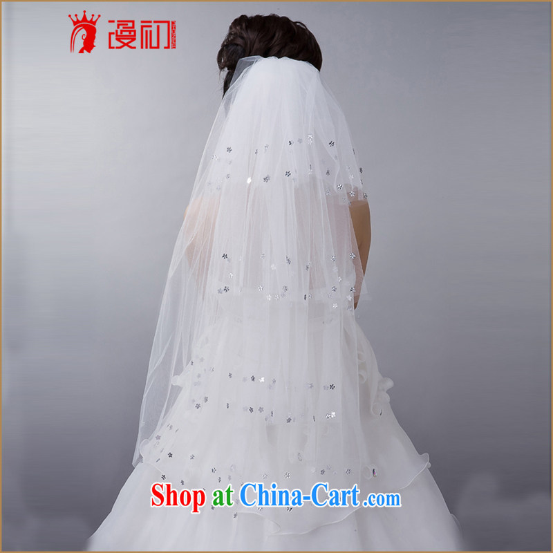 Early definition 2015 new hot brides and legal wedding dresses and wedding accessories layer 4 large Pearl and yarn white 80 - 100 CM
