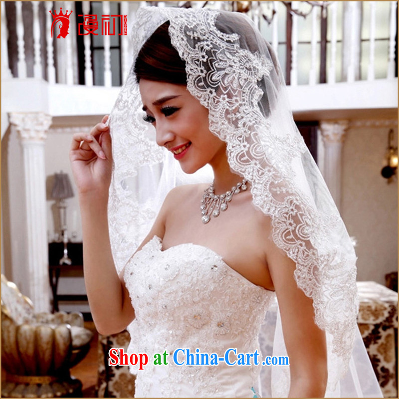 Early spread new 2015 Korean ultra-long 3M and legal marriages Korean-style wedding long silver wire, and yarn white 100 - 300 CM
