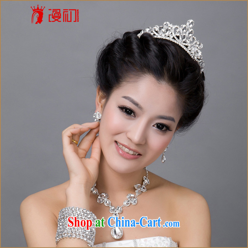 Early spread new marriages necklace jewelry Crown package bridal Princess Crown wedding jewelry
