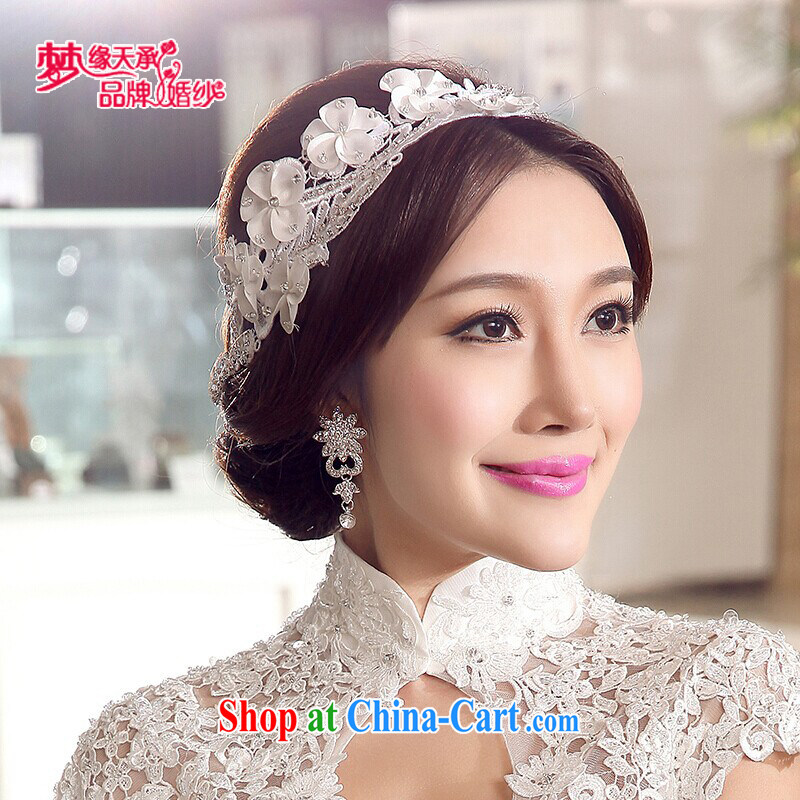 Dream of the day wedding dresses accessories only US white lace lace head-dress take Korean-style head-dress bridal jewelry TSH 018 white