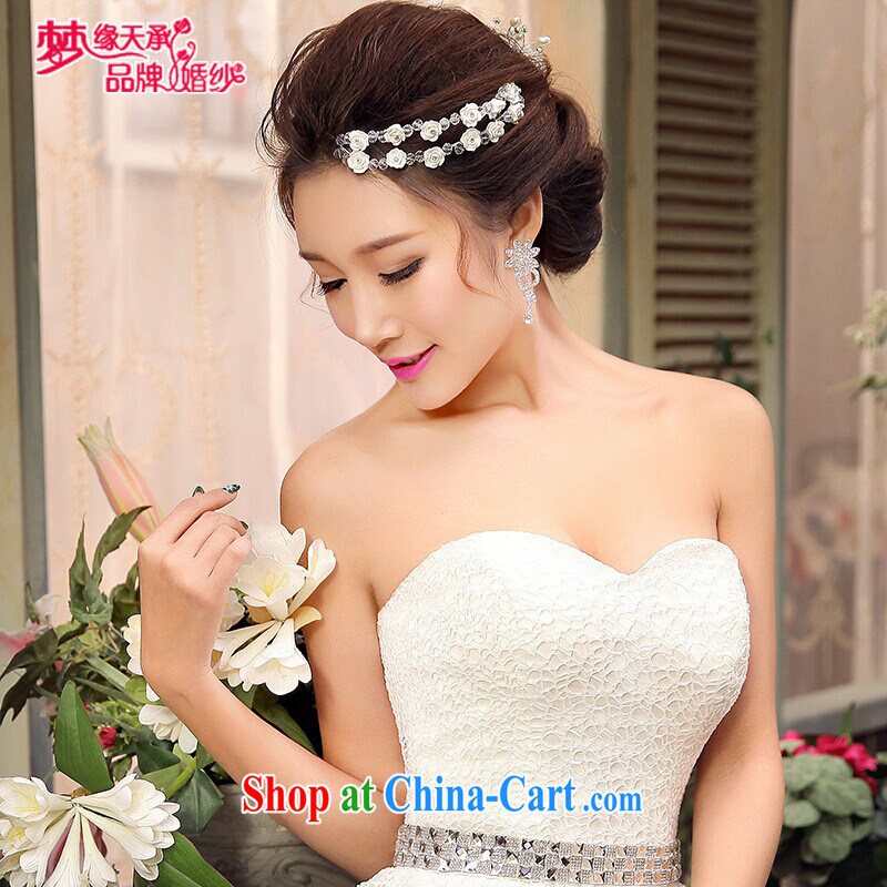 Dream of the day flash beautiful head-dress take high-end atmosphere with wedding dresses with can be Oh bridal jewelry TSH 019 white