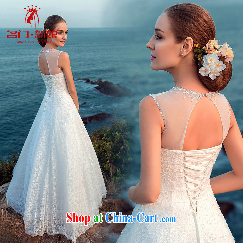 The bride's wedding dresses 2015 new wedding sexy Openwork A field dress with lace wedding A L 515