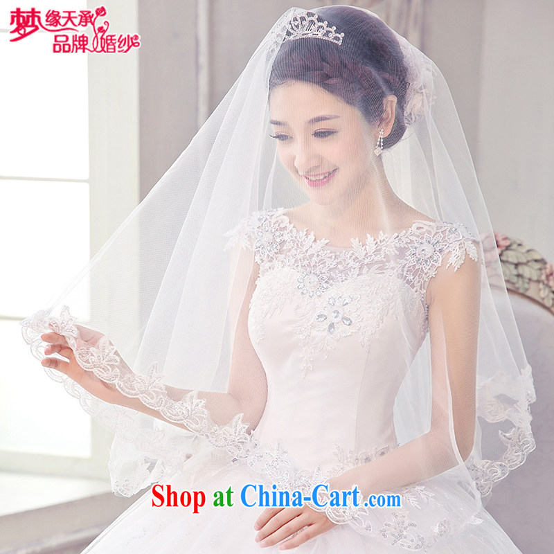 Dream of the day wedding dresses accessories princess and legal Korean Korean sweet 2015 lace lace and yarn-sin TS 008 white