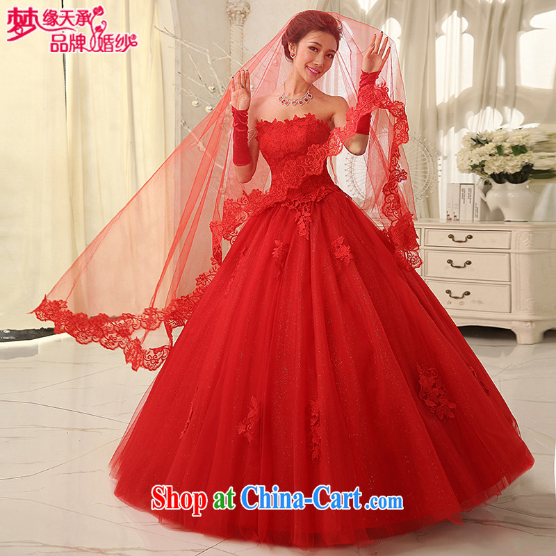 Dream of the day wedding dresses accessories sexy red lace 3m only the US and Uganda TS 66 red