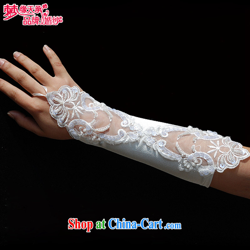 Dream of the day wedding dresses accessories wedding gloves without the gloves embroidered gloves computer lace gloves ST 31 white