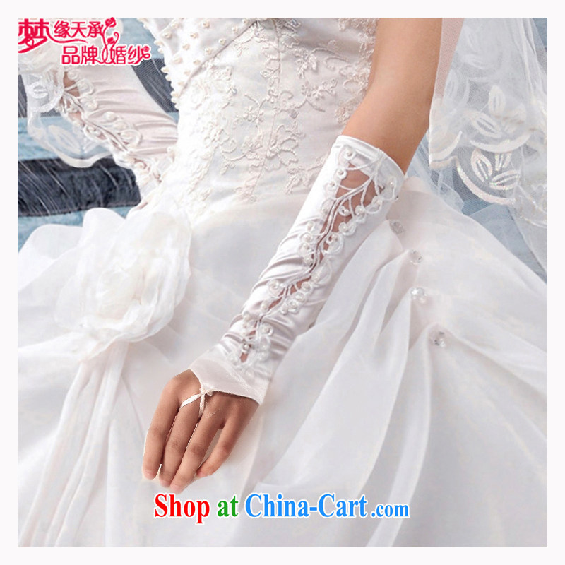 Dream of the day wedding dresses accessories wedding gloves without the gloves embroidered gloves computer lace gloves ST 005 white