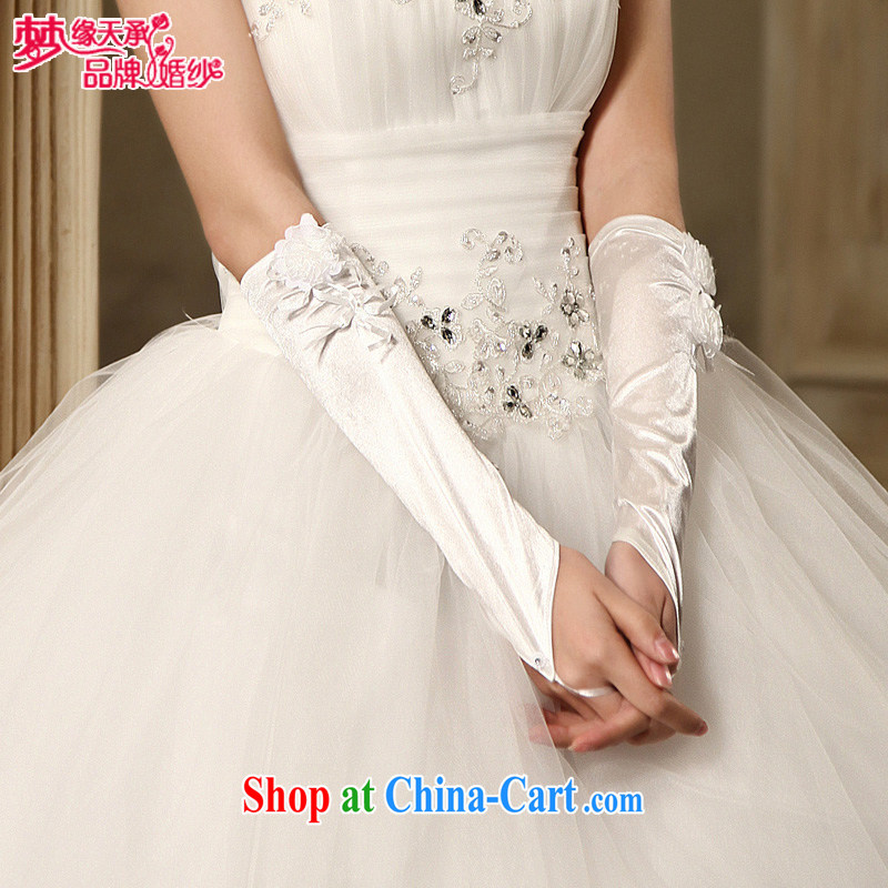 Dream of the day wedding dresses accessories upscale flowers free gloves mittens ST 012 white