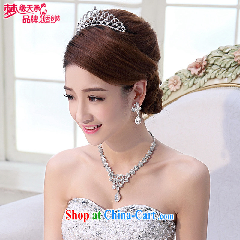 Dream of the day Crown necklace earrings jewelry 3-Piece package bridal jewelry XL HG 522 507 love Oh