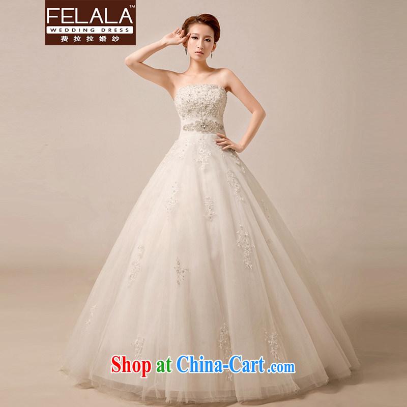 Ferrara 2015 new luxury diamond jewelry royal wedding Korean-style bare chest lace A with shaggy dress trade process winter code wedding XL Suzhou shipping