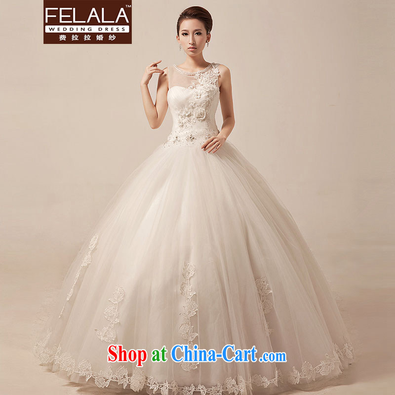Ferrara 2015 New Field shoulder lace wedding Korean bridal white sweet with shaggy yarn spring XL Suzhou shipping