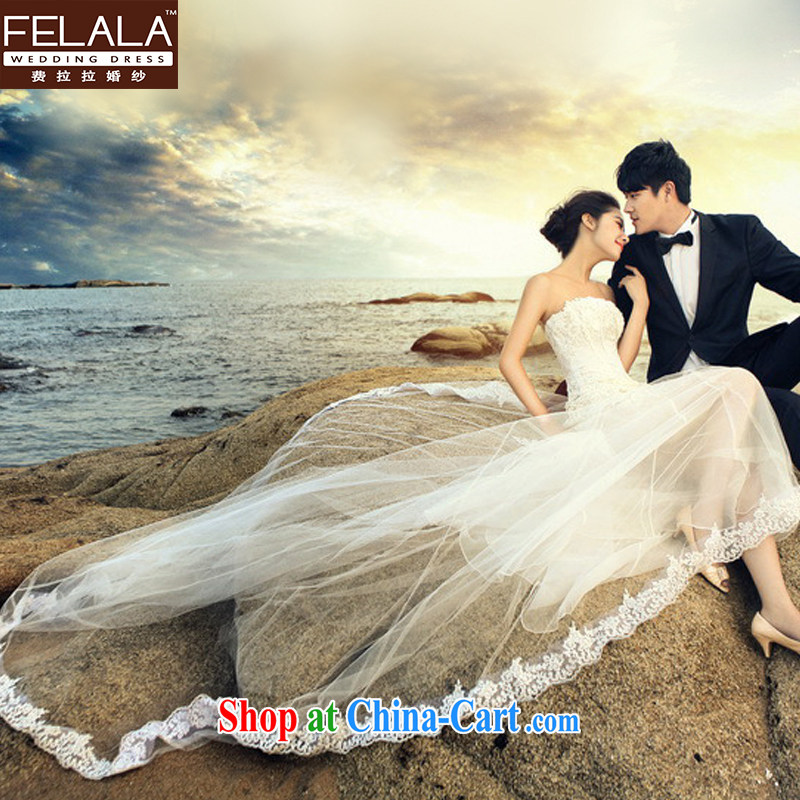 Ferrara winter crowsfoot wedding dresses the Field shoulder the Short long lace beauty 2013 new long-tail S Suzhou shipping